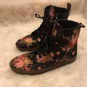Floral doc marten boot